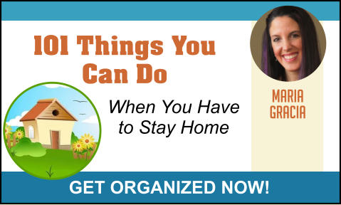 MARIA GRACIA GET ORGANIZED NOW! 101 Things You Can Do When You Have to Stay Home